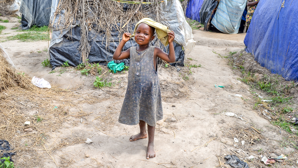 Girl in poor living conditions in Burundi